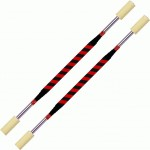 Double Short Fire Staffs  90cm  100mm     Black Red